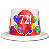 72ND BIRTHDAY BALLOON BLAST TOP HAT PARTY SUPPLIES