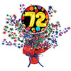 72ND BIRTHDAY BALLOON CENTERPIECE PARTY SUPPLIES