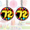 72ND BIRTHDAY BALLOON DANGLER PARTY SUPPLIES