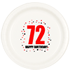 72ND BIRTHDAY DINNER PLATE 8-PKG PARTY SUPPLIES