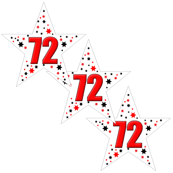 72ND BIRTHDAY STAR DECO FETTI PARTY SUPPLIES