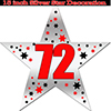 72ND SILVER STAR DECORATION PARTY SUPPLIES