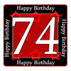 74TH BIRTHDAY COASTER PARTY SUPPLIES