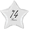 74 YEARS CLASSY BLACK STAR BALLOON PARTY SUPPLIES