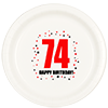 74TH BIRTHDAY DINNER PLATE 8-PKG PARTY SUPPLIES