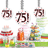 75! DANGLER DECORATION 3/PKG PARTY SUPPLIES