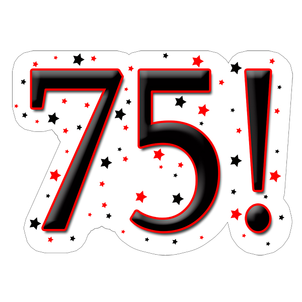 75! DECORATION (15X22 IN.) PARTY SUPPLIES