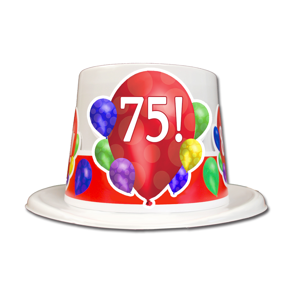 Click For Larger Picture Of 75TH BIRTHDAY BALLOON BLAST TOP HAT PARTY SUPPLIES