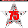 75TH SILVER STAR DECORATION PARTY SUPPLIES