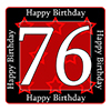 76TH BIRTHDAY COASTER PARTY SUPPLIES
