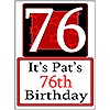 PERSONALIZED 76 YEAR OLD YARD SIGN PARTY SUPPLIES