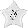 76 YEARS CLASSY BLACK STAR BALLOON PARTY SUPPLIES