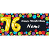 BALLOON 76TH BIRTHDAY CUSTOMIZED BANNER PARTY SUPPLIES