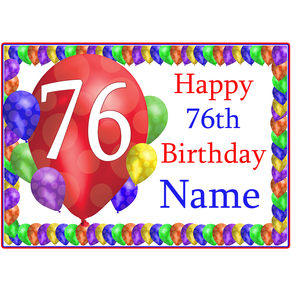 Click for larger picture of 76TH BALLOON BLAST CUSTOMIZED PLACEMAT PARTY SUPPLIES