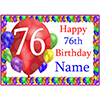 76TH BALLOON BLAST CUSTOMIZED PLACEMAT PARTY SUPPLIES