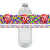 76TH BALLOON BLAST WATER BOTTLE LABEL PARTY SUPPLIES