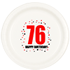 76TH BIRTHDAY DINNER PLATE 8-PKG PARTY SUPPLIES