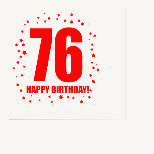 Click for larger picture of 76TH BIRTHDAY LUNCHEON NAPKIN 16-PKG PARTY SUPPLIES