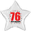 76TH BIRTHDAY STAR BALLOON PARTY SUPPLIES