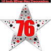 76TH SILVER STAR DECORATION PARTY SUPPLIES