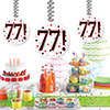 77! DANGLER DECORATION 3/PKG PARTY SUPPLIES