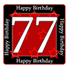77TH BIRTHDAY COASTER PARTY SUPPLIES