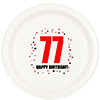 77TH BIRTHDAY DINNER PLATE 8-PKG PARTY SUPPLIES