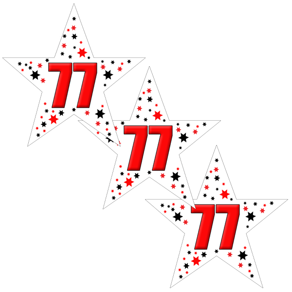 77TH BIRTHDAY STAR DECO FETTI PARTY SUPPLIES
