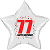 77TH BIRTHDAY STAR BALLOON PARTY SUPPLIES