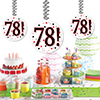 78! DANGLER DECORATION 3/PKG PARTY SUPPLIES