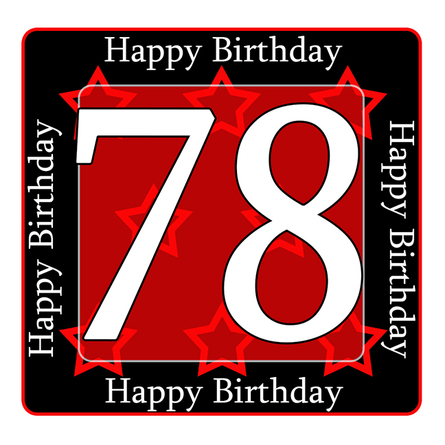 78 Happy Birthday Party Supplies 78th Coaster