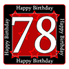 78TH BIRTHDAY COASTER PARTY SUPPLIES