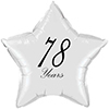 78 YEARS CLASSY BLACK STAR BALLOON PARTY SUPPLIES