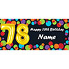 BALLOON 78TH BIRTHDAY CUSTOMIZED BANNER PARTY SUPPLIES
