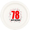 78TH BIRTHDAY DINNER PLATE 8-PKG PARTY SUPPLIES