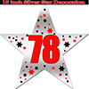 78TH SILVER STAR DECORATION PARTY SUPPLIES