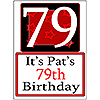 PERSONALIZED 79 YEAR OLD YARD SIGN PARTY SUPPLIES