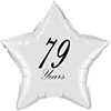 79 YEARS CLASSY BLACK STAR BALLOON PARTY SUPPLIES