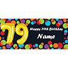 BALLOON 79TH BIRTHDAY CUSTOMIZED BANNER PARTY SUPPLIES