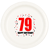 79TH BIRTHDAY DINNER PLATE 8-PKG PARTY SUPPLIES