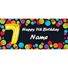 BALLOON 7TH BIRTHDAY CUSTOMIZED BANNER PARTY SUPPLIES