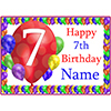 7TH BALLOON BLAST CUSTOMIZED PLACEMAT PARTY SUPPLIES