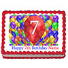 7TH BIRTHDAY BALLOON BLAST EDIBLE IMAGE PARTY SUPPLIES