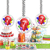 7TH BIRTHDAY BALLOON BLAST DANGLER PARTY SUPPLIES
