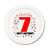 7TH BIRTHDAY DESSERT PLATE 8-PKG PARTY SUPPLIES