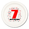 7TH BIRTHDAY DINNER PLATE 8-PKG PARTY SUPPLIES