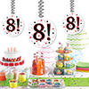 8! DANGLER PARTY SUPPLIES