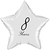 8 YEARS CLASSY BLACK STAR BALLOON PARTY SUPPLIES