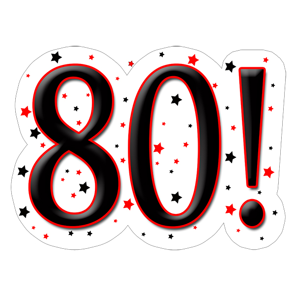 80! DECORATION (15X22 IN.) PARTY SUPPLIES