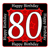 80TH BIRTHDAY COASTER PARTY SUPPLIES